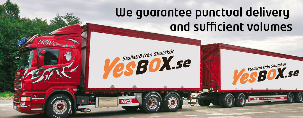 We guarantee punctual delivery and sufficient volumes